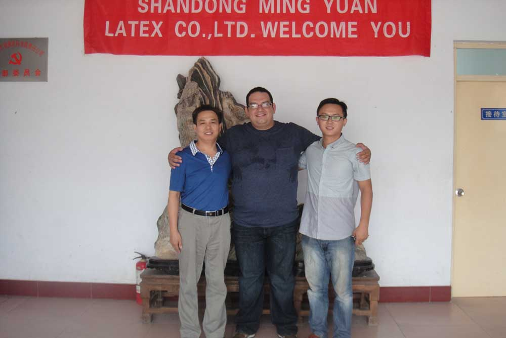 Mexico clients visit our company