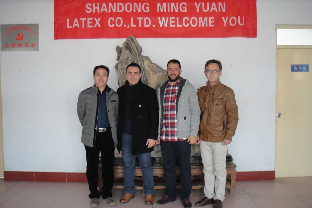 Turkey clients visit our factory in site