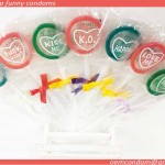 B- lollipop funny condoms