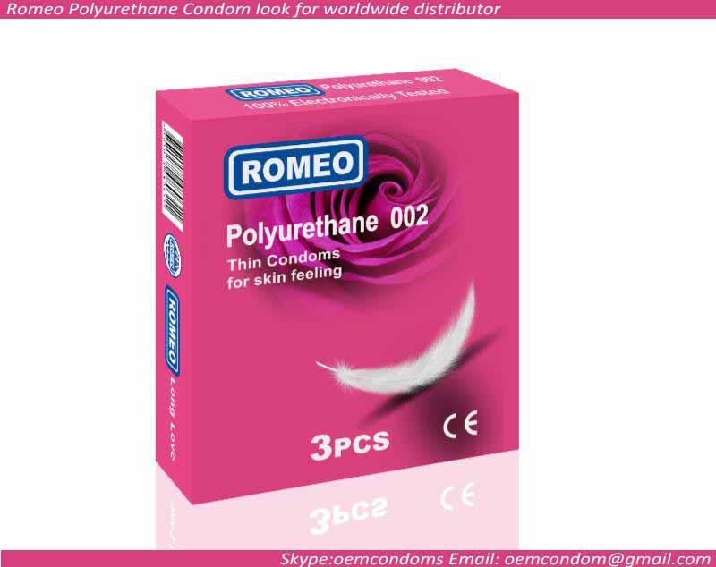 Romeo logo Polyurethane 002 condoms