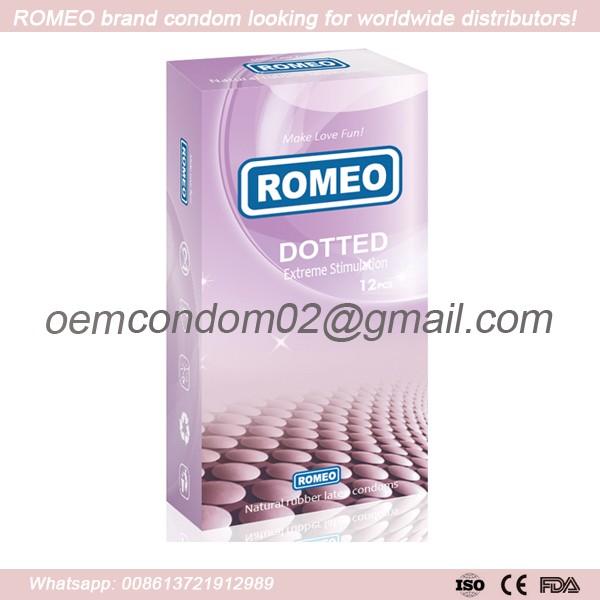 ROMEO brand dotted condom