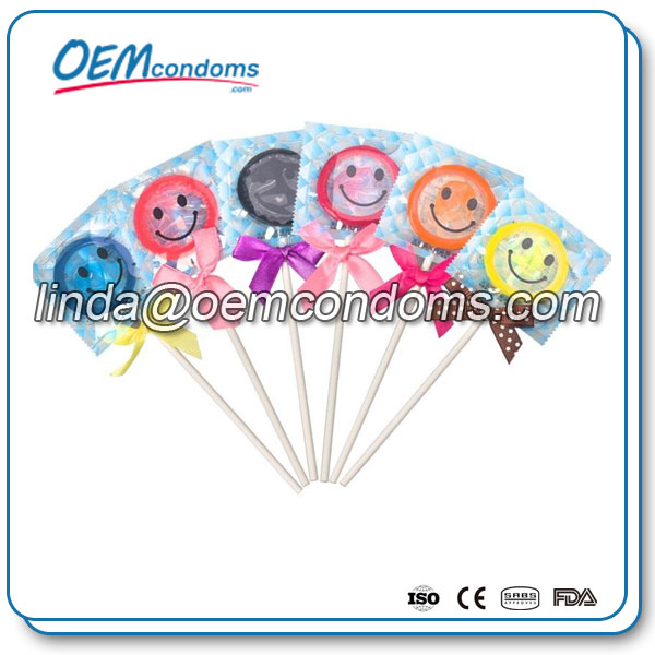 Lollipop condom, custom private label lollipop condom, lollipop condom manufacturer