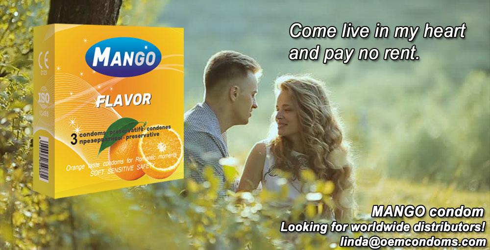 MANGO condom, MANGO flavored condom, MANGO brand condom manufacturer