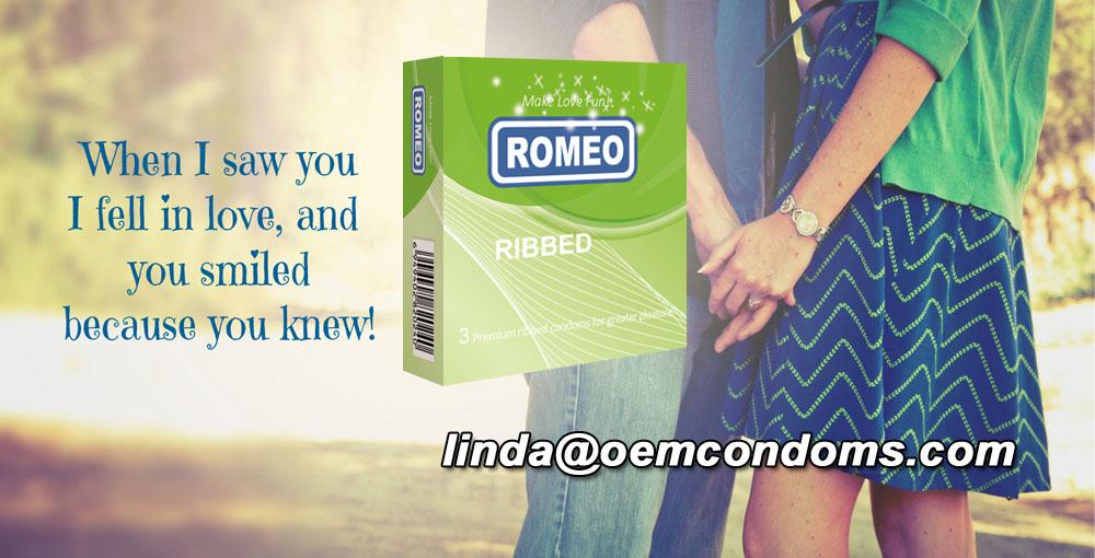 ROMEO condom, ROMEO ribbed condom, best brand condom supplier, ROMEO ribbed condom manufacturer