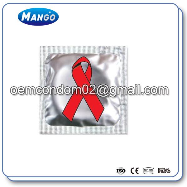 red ribbon aids awareness condom