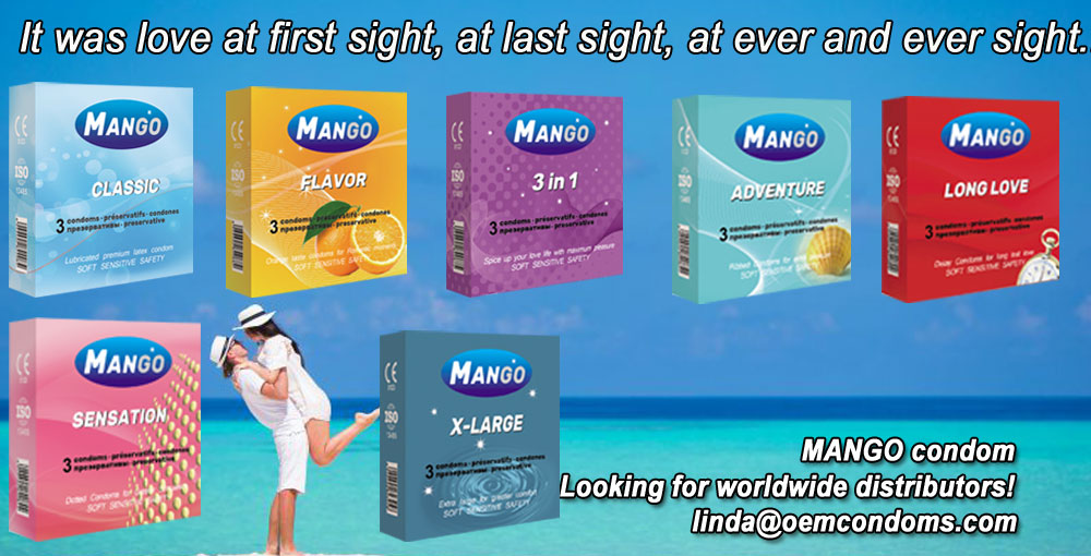 MANGO brand condom, brand condom manufacturer, custom brand condom factory