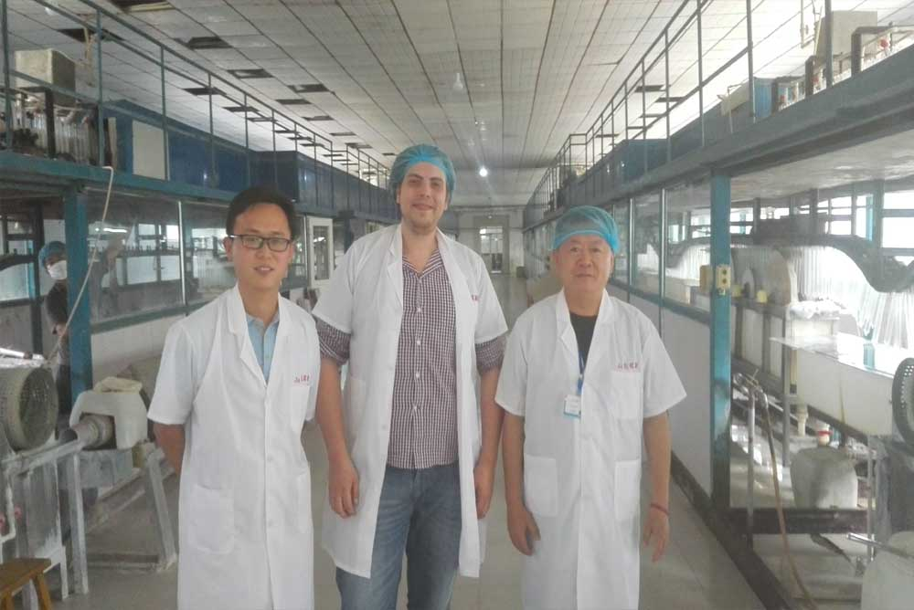 Russian condom importer clients visit our factory production dipping line in site