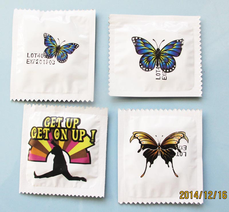 custom printed tattoo sticker wrapper condom